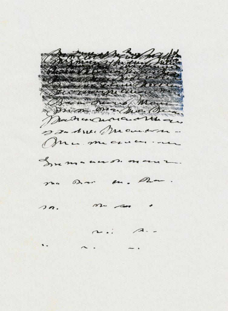 Scribbled words